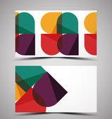Plantilla de diseño de tarjeta de visita de vector cmyk — Vector de stock