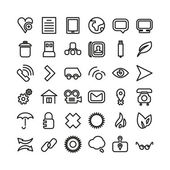 Web line icon set. Thin icons — Stock Vector