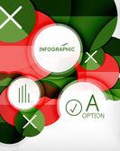 Glossy circle geometric shape info background — Stock Vector