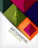 Infographic abstracte achtergrond — Stockvector