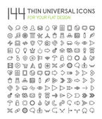 Large collection of thin universal web icon set — Stock Vector