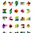Set of colorful abstract geometric shapes — Stock Vector #40775231