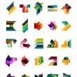 sada barevných abstraktních geometrických tvarů — Stock vektor #40775231