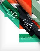 Business presentation ränder abstrakt bakgrund — Stockvektor