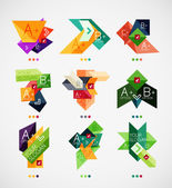 Vector option banners collection — Stock Vector