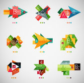 Vector infographic option banner design collection — Stock Vector