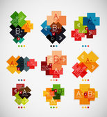 Geometrical shaped infographic option banners — Stock Vector