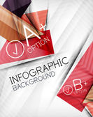 Infographic options geometrical background design — Stock Vector