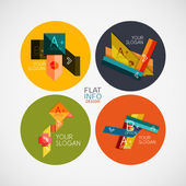 Flat infographic design concept set — Stock Vector