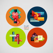 Flat infographic design concept set — Stock Vector