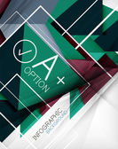 Infographic geometrical shape abstract background — Cтоковый вектор