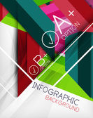 Infographic geometrical shape abstract background — Stockvector
