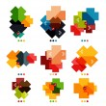 Set of cross geometric shapes - symbols — Stock Vector