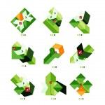 Vector arrow business geometric stickers — Stock Vector