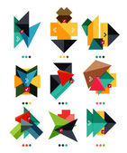 Vector arrow business geometric stickers — Vettoriale Stock