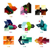Collection of colorful business geometric shapes — Stock Vector