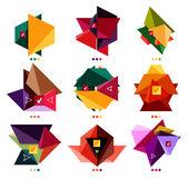 カラフルなビジネスの幾何学的図形のコレクション — ストックベクタ