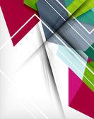 Geometryczne kształty kolorowy streszczenie tło — Wektor stockowy