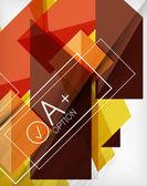 Infographic geometriska formen abstrakt bakgrund — Stockvektor