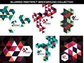 Collection of geometric shape abstract backgrounds — Stock Vector