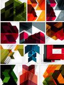 Mega set of paper geometric backgrounds — 图库矢量图片