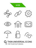 Web administration thin line icon set — Stock Vector