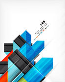 Geometric abstraction business poster — Stockvektor