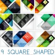 Set of square shaped geometrical backgrounds — Stock Vector #42117479