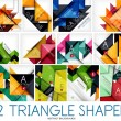 Set of triangle shaped abstract backgrounds — Stock Vector