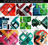 Mega set of paper geometric backgrounds — Stock Vector