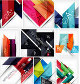 Collection of geometric shaped line backgrounds — Stock Vector