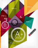 Futuristische abstracte 3d infographic compositie — Stockvector