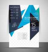 Business corporate flyer template — Stock Vector