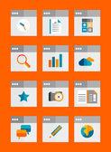 Set of flat universal icons — Stock Vector