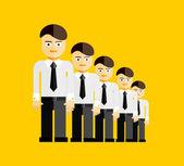 Vector group of businessmen — Stock Vector