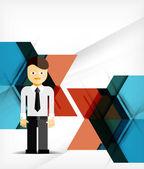 Vector business geometric design background — Stock Vector