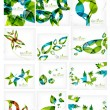 Abstract leaf backgrounds mega collection — Stock Vector #44088243