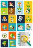 Nature ecology concepts collection — Stock Vector