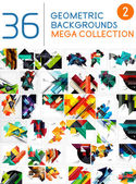 Mega collection of abstract backgrounds — Stock Vector