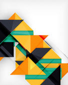 Triangle geometric shape abstract background — Stock Vector