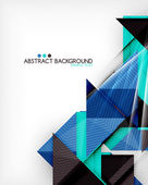 Triangle geometric shape abstract background — Vettoriale Stock