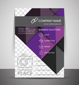 CMYK Business Corporate Flyer Template — Stock Vector