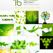 Mega collection of leaf abstract backgrounds — Stock Vector #44425041