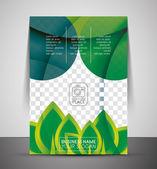 Green design business corporate print template — Stock Vector