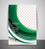 Wave abstract corporate flyer print design — Stok Vektör