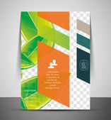Wave abstract corporate flyer print design — Stock Vector