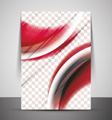 Wave abstract corporate flyer print design — Stock vektor