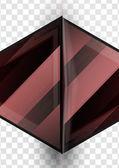 Glass geometric info background — Stock Vector