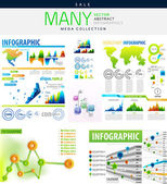Infographics collections vector illustration — Stock Vector