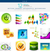 Vector illustrations set for universal use — Vettoriale Stock